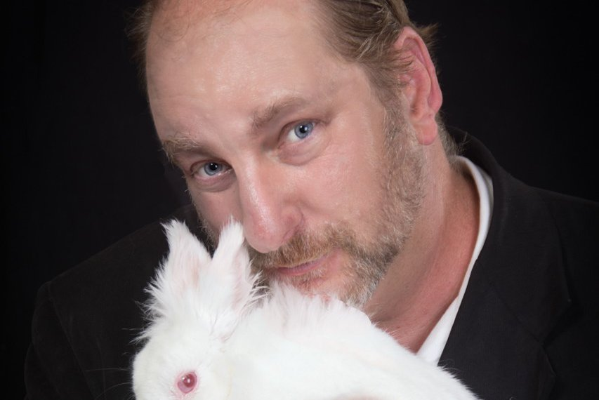 Mike with bridget the bunny